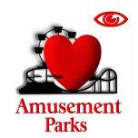 I Heart Amusement Parks Photo Cutout