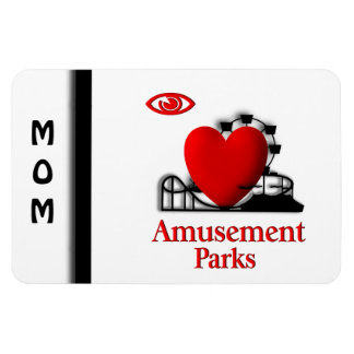 I Heart Amusement Parks Rectangular Photo Magnet