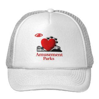I Heart Amusement Parks Trucker Hat