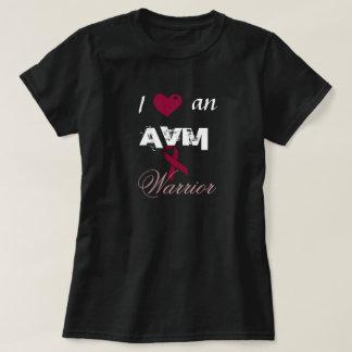 I Heart an AVM Warrior Burgundy Ribbon Shirt