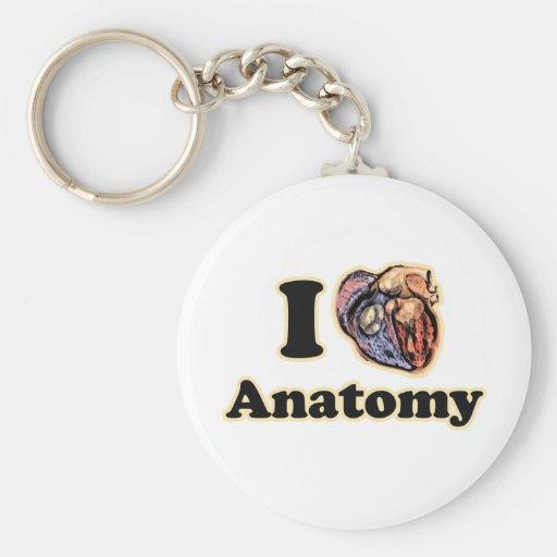 I heart Anatomy Science Super Geek Basic Round Button Keychain