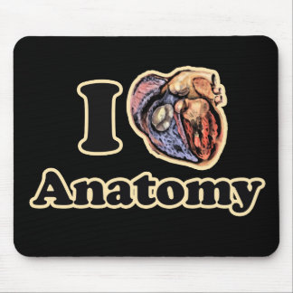I heart Anatomy Science Super Geek Teacher Mouse Pad