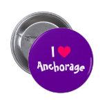 I Heart Anchorage 2 Inch Round Button
