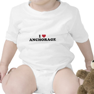 I Heart Anchorage Alaska Baby Bodysuits