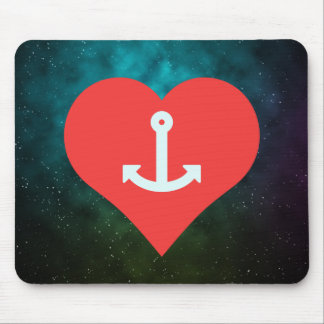 I Heart anchors Mouse Pad