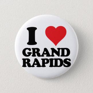 i heart and love grand rapids, michigan pinback button