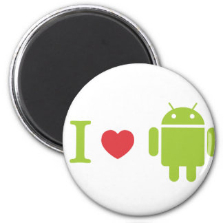 I heart Android 2 Inch Round Magnet