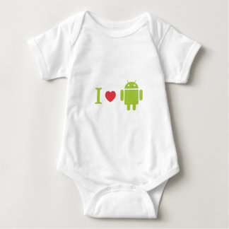 I heart Android Baby Bodysuit