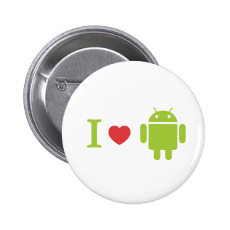 I heart Android Pinback Buttons