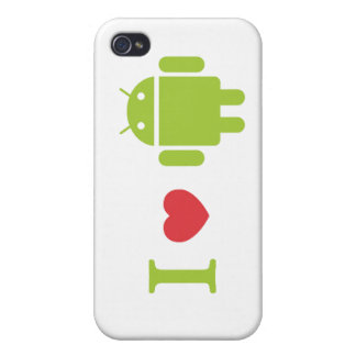I heart Android iPhone 4 Cases