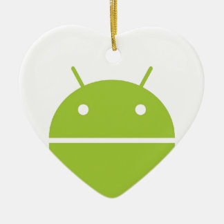 I Heart Android Ornament