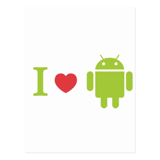 I heart Android Postcard