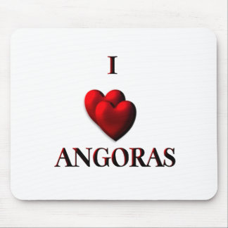 I Heart Angoras Mouse Pad