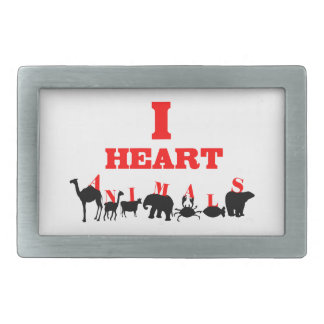 I Heart Animals Belt Buckle