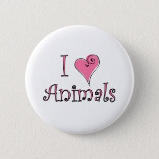 I (heart) animals pinback button