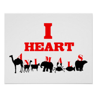 I Heart Animals Poster