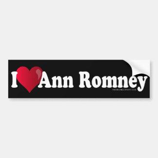 I Heart Ann Romney Black Bumper Sticker