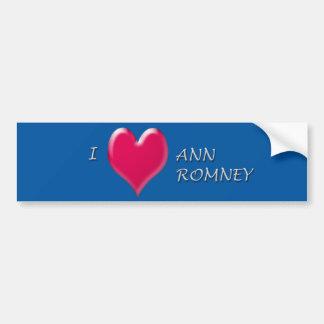 I Heart Ann Romney Bumper Sticker