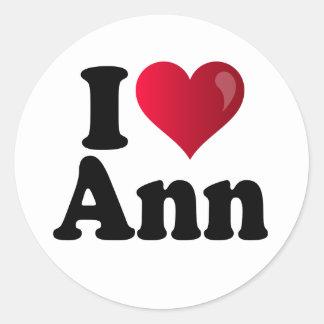 I Heart Ann Romney Classic Round Sticker