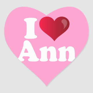 I Heart Ann Romney Heart Sticker