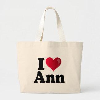 I Heart Ann Romney Large Tote Bag