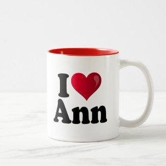 I Heart Ann Romney Two-Tone Coffee Mug
