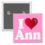 I Heart Ann Romney Pinback Buttons