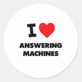 I Heart Answering Machines Sticker