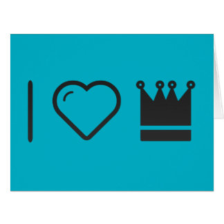 I Heart Antique Crowns Large Greeting Card