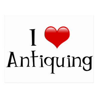 I Heart Antiquing Postcard