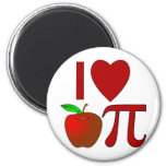 I Heart Apple Pi 2 Inch Round Magnet