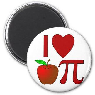 I Heart Apple Pi 2 Inch Round Magnet