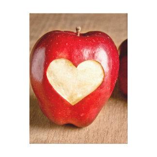 I Heart Apples Canvas Print