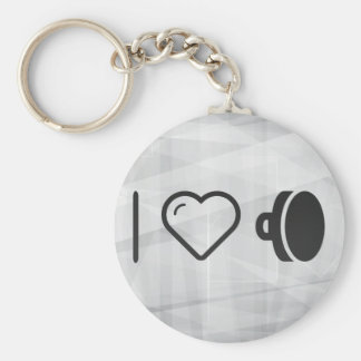 I Heart Applying Makeups Basic Round Button Keychain
