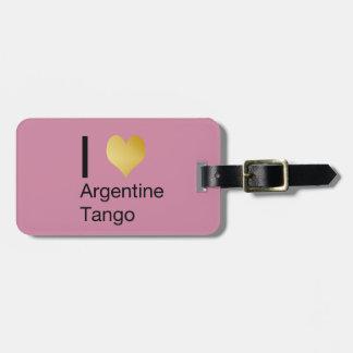 I Heart Argentine Tango Luggage Tag