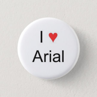 I heart Arial Button