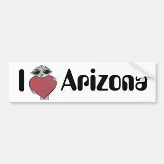 I Heart Arizona Alien Bumper Sticker