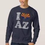 I heart Arizona Flag AZ Pull Over Sweatshirts