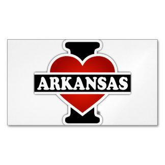 I Heart Arkansas Business Card Magnet