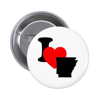 I Heart Arkansas Buttons