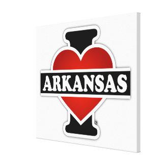 I Heart Arkansas Canvas Print