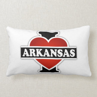 I Heart Arkansas Lumbar Pillow