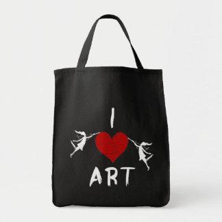 I Heart Art Grocery Tote Bag