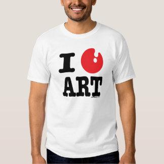 I (heart) art shirt