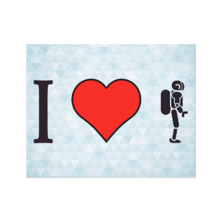 I Heart Artificial Intelligence Canvas Print