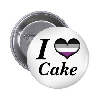 I Heart Asexual Cake Pinback Button