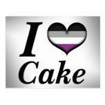 I Heart Asexual Cake Postcard