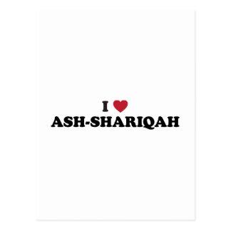 I Heart Ash-Shāriqah Sharjah United Arab Emirates Postcard