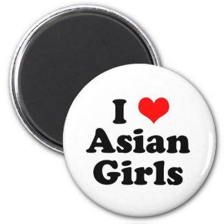 I Heart Asian Girls Magnet