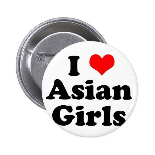 I Heart Asian Girls Pinback Button